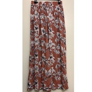 Roxy Last Forever maxi skirt with slit size small